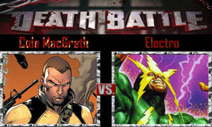 Cole MacGrath vs Electro by SonicPal