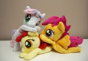 Cutie Mark Crusader Beanies by Yukamina-Plushies