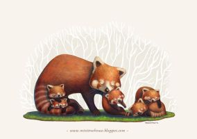 A Good Mom - Red Panda Version by minitreehouse