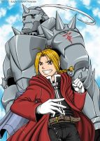 The Elric brothers by raya