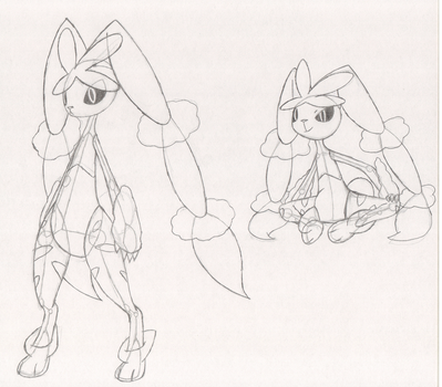 Attempt At Anatomy With Mega Lopunny by SketchSuke