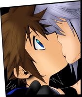 :SoRiku: Distance Kiss by TemmieVega1999