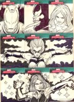 Marvel Sketch Cards 4 by martheus