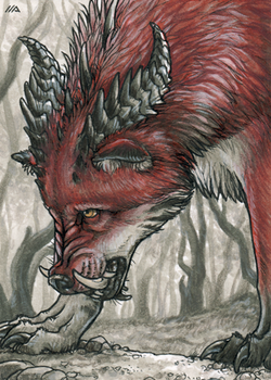 ACEO for Terrorwolf666 by Dragarta