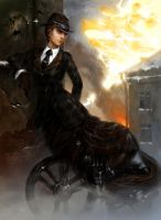 Wheeled lady by DarkBydloArt