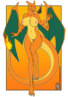 Sexy Charizard gal by wsache007