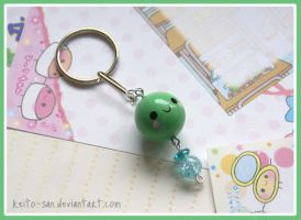 COMMISSION: Pea Keyring by Keito-San