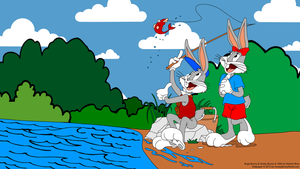 Bugs Bunny and Honey Bunny went fishing by Ivellios1988