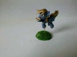 My Little Pony FIM Custom:flying pose Derpy Hooves by vulpinedesigns
