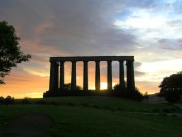 Edinburgh, National Monument by Tjeiken