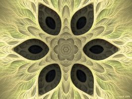 feathered furl kaleidoscope by grinagog