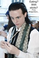 Loki Cosplay: Chopstick? What is that? by Mon-Kishu