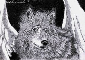Winged Canis lupus by ArthasElric