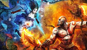 Alice VS Kratos by LoveCrossover