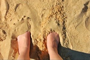 Feet in the Sand by Kelsey-Brown