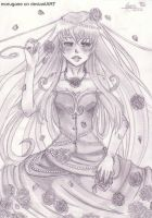 Melancholy rose by morugane