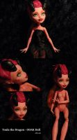 Toula the Dragon - Monster High OOAK by Just-Doing-Nothing