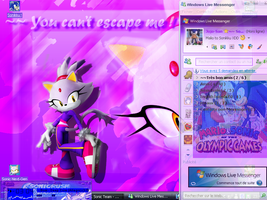 October is Kitty Purple by Joellinathedog