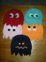 Pac Man Hats by silverwordz