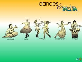 Dances and India - 1 by shakri-world