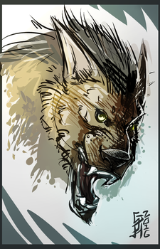 Glorified Werewolf Head Sketch by GHushpuppy