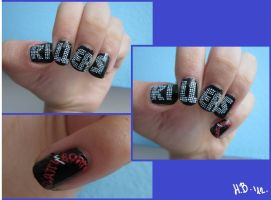My The Killers nails by FluffyInu