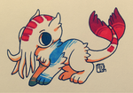 Creature Chib Commish - Telegraphist by Kaweki