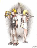 Roxas and Namine by friedChicken365