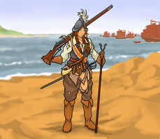 VOC Musketeer, Formosa 1662 by ColorCopyCenter