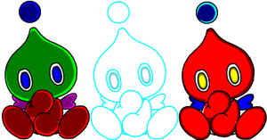Chao adopts by SonicandSilver