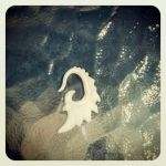 Polymer clay wing earring by FrozenDreamer
