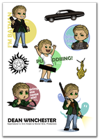 Dean Winchester stickers by Poledrey