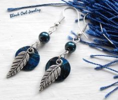 Blue Moon earrings by IdolRebel