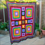 Vintage Feel Granny Square Blanket by EssHaych