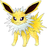 Jolteon coloured by Sulfura