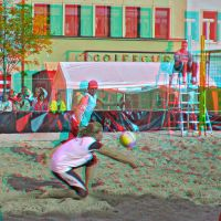 Beachball III Anaglyph 3D by zour