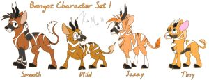 Bongos: Character Set 1 by KM-cowgirl