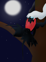Darkrai in the Night by darkraifangirl