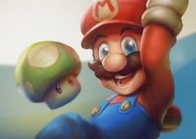 Mario by WhiteLeyth