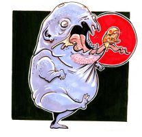 Grimace and Baby Chick-Ronald by atomier