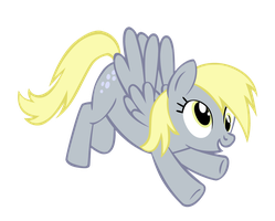 Derpy Flys Backwards by Bronyboy