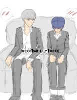 Naoto and Main Character by xox1melly1xox