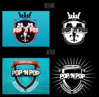 POP 'n POP logo redesign by Eyecatcher33