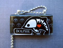 Dolphie skelanimals necklace by AngelElementsEtsy