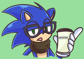 Hipster Sonic by Looji
