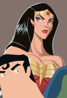 Superfriends Detail - WW by AndrewJHarmon
