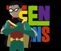Robin Teen Titans by WhyteHawke