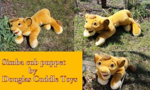 Simba cub puppet by Douglas by Laurel-Lion