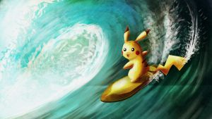 Pikachu used surf by LazyAmphy