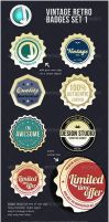 Vintage Retro Badges by sirjeffoakley
